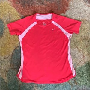 Bright Pink Nike Dri-Fit Athletic Tee